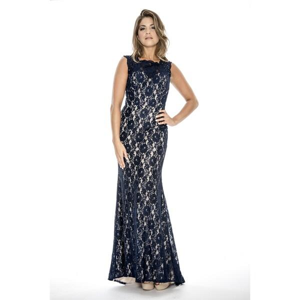 Shop Decode 1.8 Women\'s Long Stretch Lace Evening Dress - Free ...