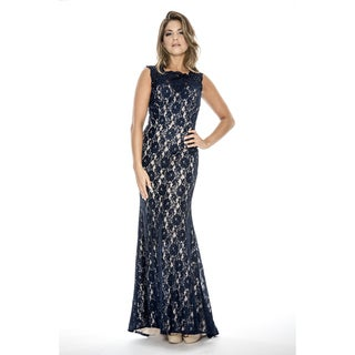 Decode 1.8 Women's Long Stretch Lace Evening Dress