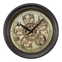 La Crosse Clock BBB85289 13 Inch Bronze Metal Clock with Working Gears