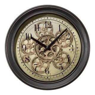 La Crosse Clock BBB85289 13 Inch Bronze Metal Clock with Working Gears