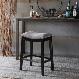Madison Park Nomad Saddle Grey Counter Stool (As Is Item)
