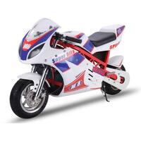 MotoTec White 48v 1000w Electric Superbike