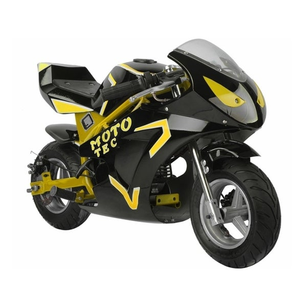 shop mototec gas pocket bike gt 49cc 2 stroke yellow. Black Bedroom Furniture Sets. Home Design Ideas