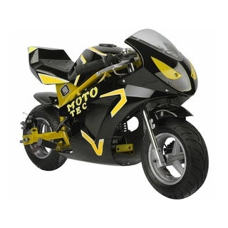 MotoTec Gas Pocket Bike GT 49cc 2-Stroke Yellow