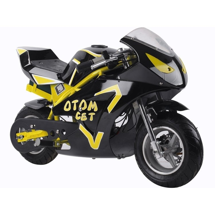 MotoTec 36v 500w Electric Pocket Bike GT Yellow
