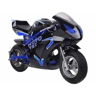 MotoTec Gas Pocket Bike GT 49cc 2-Stroke Blue