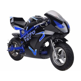 MotoTec Gas Pocket Bike GT 49cc 2-Stroke Blue