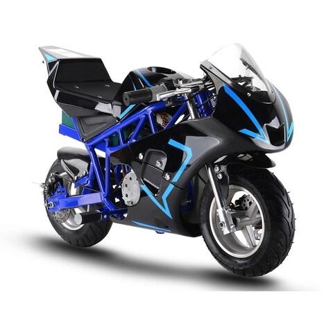MotoTec 36v 500w Electric Pocket Bike GP Blue