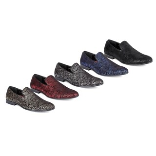 Miko Lotti Men's Slip-on Smoking Loafers (Option: Black)