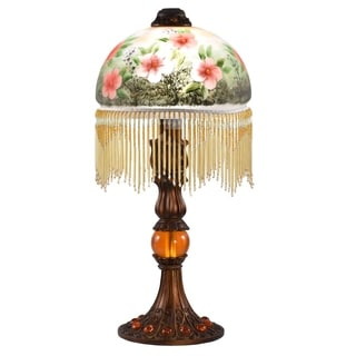 dale tiffany select 21 in h pansel table lamp