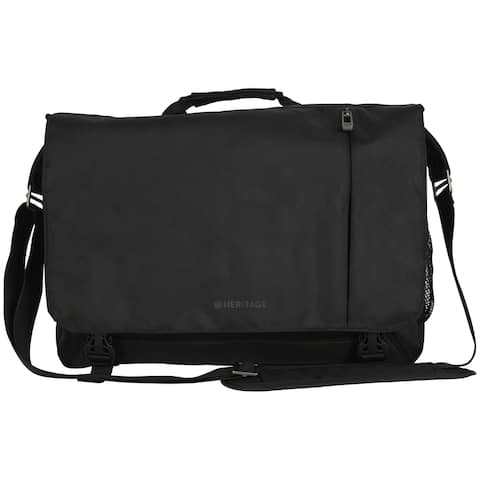 Heritage Dual Compartment 16-inch Laptop & Tablet Flapover Messenger Bag