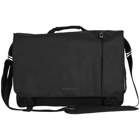 Heritage Dual Compartment Flapover 15.6-inch Laptop Messenger Bag