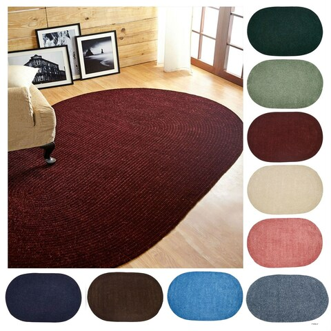 """Chenille Reversible 30"""" x 50"""" Braided Rug - 2'6 x 4'2"""