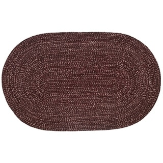 Chenille Reversible 22 x 40 Braided Rug (Burgundy/Muave - 110 x 34 Oval)