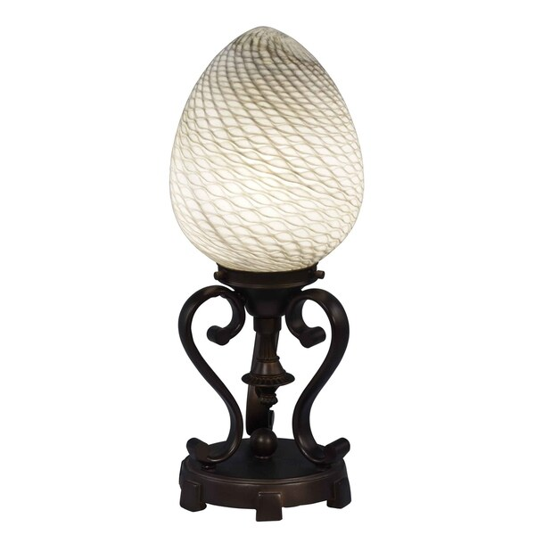 Dale Tiffany Select 16 In. H Eggshell Art Glass Accent Lamp