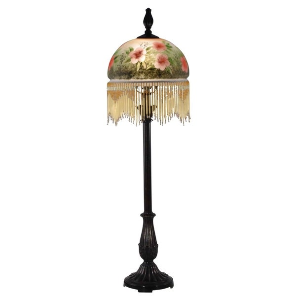 Dale Tiffany Select 32 In. H Pansy Hand Painted Buffet Lamp