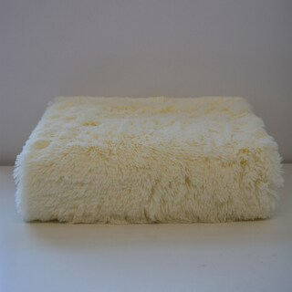 De Moocci Ultra Soft Shaggy Fluffy Reversible Faux Fur Throw (Option: Cream)