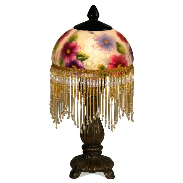 Dale Tiffany Select 12 In. H Cosmo Hand Painted Art Glass Accent Lamp