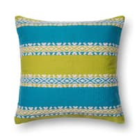 Woven Green/ Blue Southwest 22-inch Throw Pillow or Pillow Cover