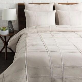 Lesleigh Light Gray Modern Duvet Cover Set