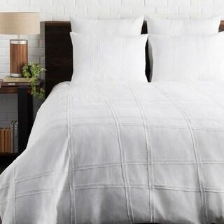 Lesleigh White Modern Duvet Cover Set