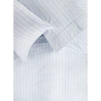 Printed Design Cotton Collection 400 Thread Count Blue Shirt Stripe Sheet Set
