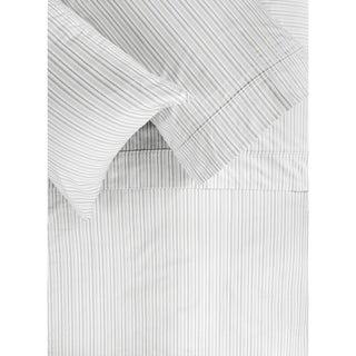 Printed Design Cotton Collection 400 Thread Count Grey Shirt Stripe Sheet Set