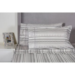 Printed Design Cotton Collection 400 Thread Count Aztec Sheet Set