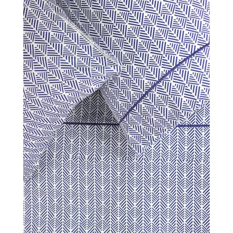 Printed Cotton 400 Thread Count Blue Arrow Embroidered Sheet Set