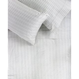 Printed Design Cotton Collection 400 Thread Count Grey Bamboo Stripe Sheet Set