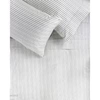 Printed Cotton 400 Thread Count Grey Broken Stripe Sheet Set