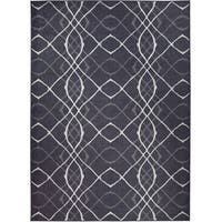 Ruggable Washable Indoor/ Outdoor Stain Resistant Pet Rug Amara Black (5' x 7') - 5' x 7'