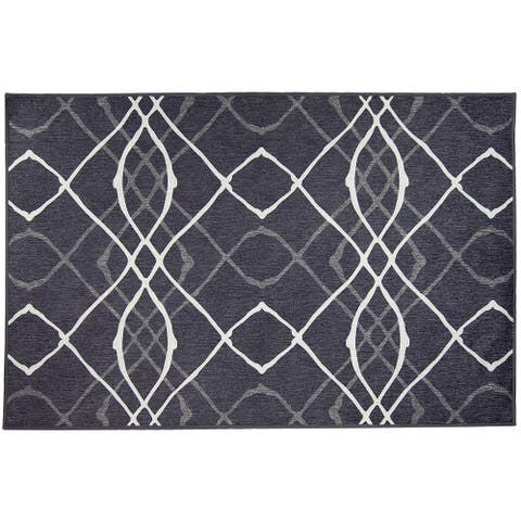 Ruggable Washable Stain Resistant Pet Rug Amara Black - 3' x 5'