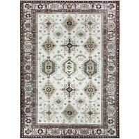 Ruggable Washable Indoor/ Outdoor Stain Resistant Pet Rug Noor Taupe (5' x 7') - 5' x 7'