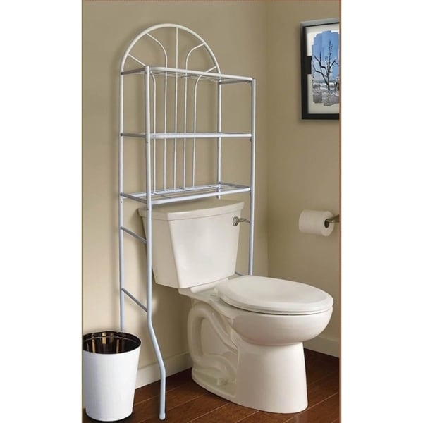 Metal Shelf Bathroom Space Saver No Assembly Required