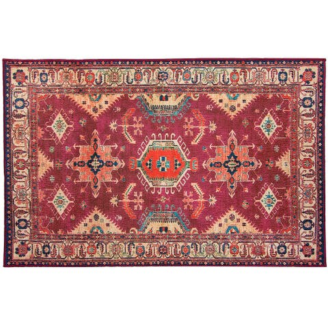 Ruggable Washable Stain Resistant Pet Accent Rug Noor Ruby - 3' x 5'