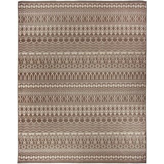 RUGGABLE Washable Indoor/ Outdoor Stain Resistant Pet Area Rug Cadiz Espresso 8 x 10'