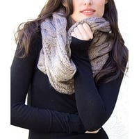 Modadorn Gradation Big Cable Knit Infinity Scarf