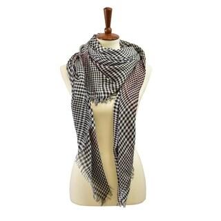 Le Nom Traditional Glen Check Blanket Scarf