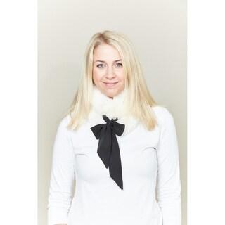 Le Nom Faux Fur Collar Scarf (Option: Ivory)