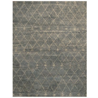 Handmade Herat Oriental Indo Hand-knotted Moroccan Wool Area Rug (9'3 x 12)