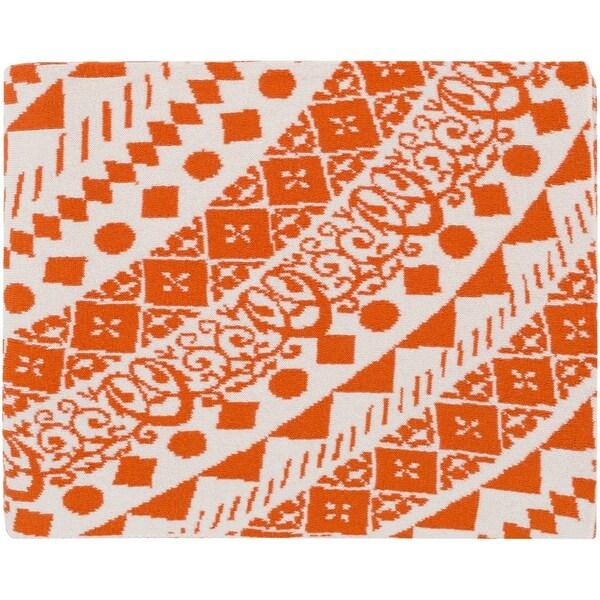 "Cierra Burnt Orange 50"" x 60"" Global Throw"