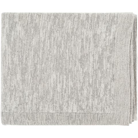 "Capricia Shimmer Light Gray 50"" x 60"" Modern Throw"