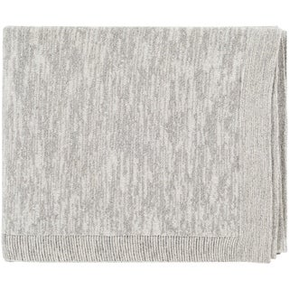 "Capricia Light Gray 50"" x 60"" Modern Throw"