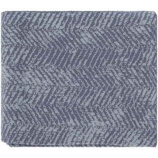 "Lahja Dark Blue 50"" x 60"" Modern Throw"