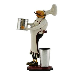 Metal chef character with bucket in hand