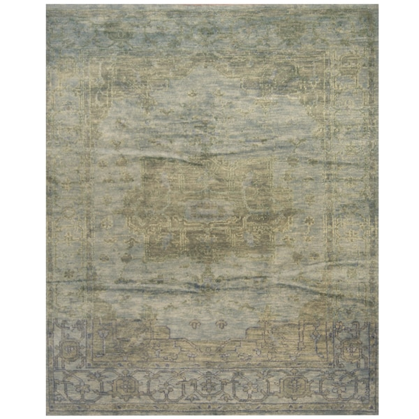 Handmade Herat Oriental Indo Hand-knotted Overdye Moroccan Wool Area Rug - 8' x10' (India)