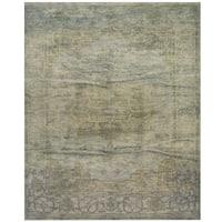 Handmade Herat Oriental Indo Hand-knotted Overdye Moroccan Wool Area Rug - 8' x10'
