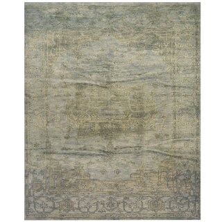 Handmade Herat Oriental Indo Hand-knotted Overdye Moroccan Wool Area Rug - 8' x10'