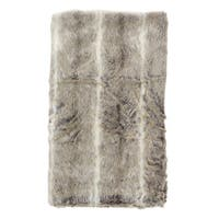 Faux Fur Luxe Stripe Poly Filled Throw Blanket